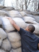 Rock Climbing Photo: T G Daniel gettin it done
