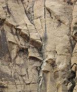 Rock Climbing Photo: Climbers on Hot Flash p3. 4/14/09