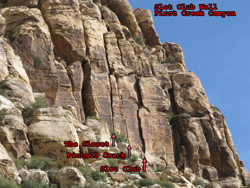 Rock Climbing Photo: Slot Club Wall.