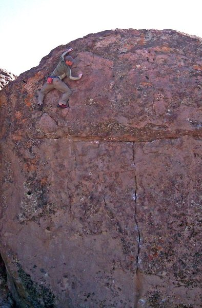 Rock Climbing Photo: Top of the 'T-Crack Left', deep in the Upper Canyo...