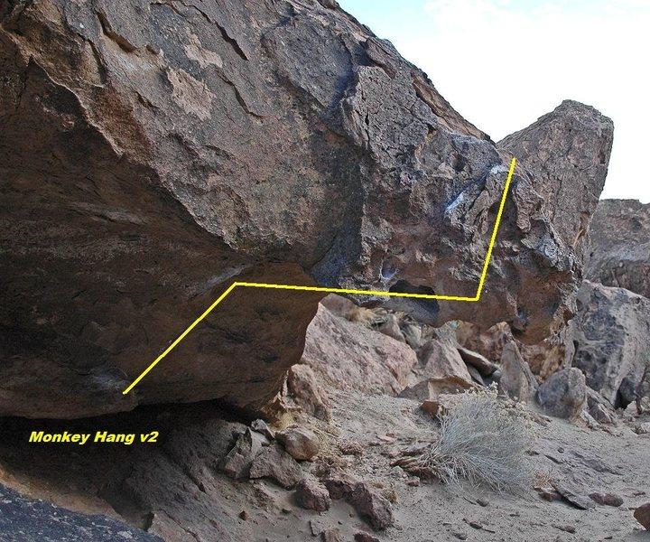 Rock Climbing Photo: 'Monkey Hang' v2