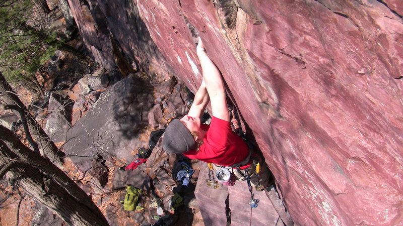 Rock Climbing Photo: Leading Sometime Crack