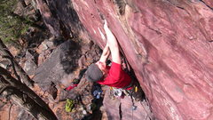 Rock Climbing Photo: Leading Sometime Crack