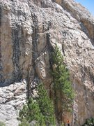 Rock Climbing Photo: Nearing the anchors on a qulity route at Chuch Dom...