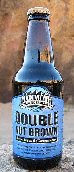 Rock Climbing Photo: Double Nut Brown Ale from Mammoth Brewing. Photo b...