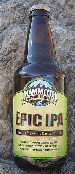Rock Climbing Photo: Epic IPA from Mammoth Brewing. Photo by Blitzo.