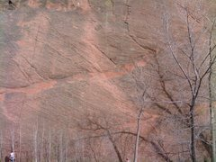 Rock Climbing Photo: The rope in this photo shows the leftward rising t...