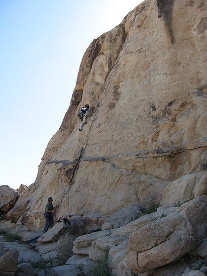 Climbing at Camp Rock area.<br> Photo by Blitzo.