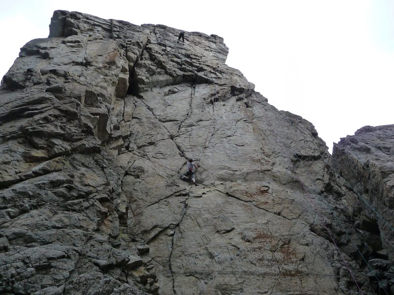 Rock Climbing Photo: Shot of the upper half of the main portion of Blip...