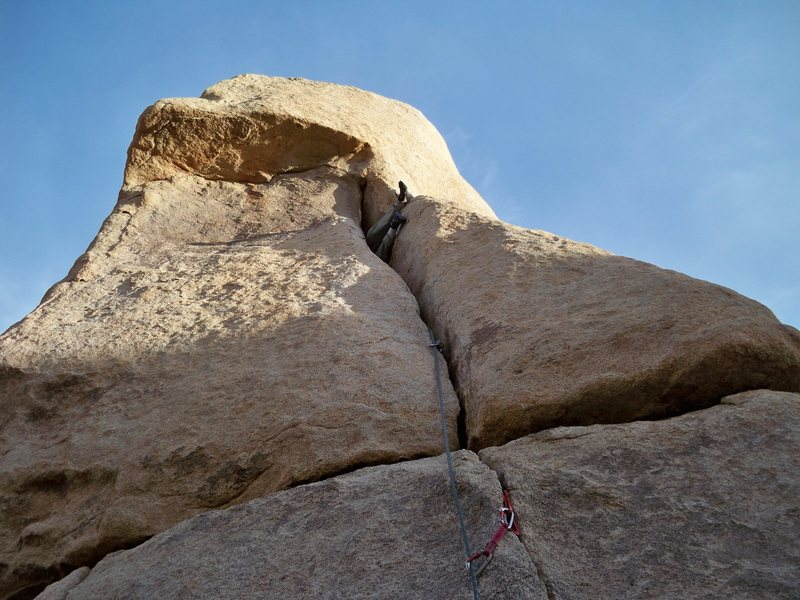 "Rock Climbing Photo: Jarad going sideways to ""thread the eye of th..."