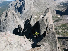 Rock Climbing Photo: On the Wolf's Head. Cirque of the Towers, WY.