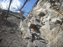 Rock Climbing Photo: Pitch One