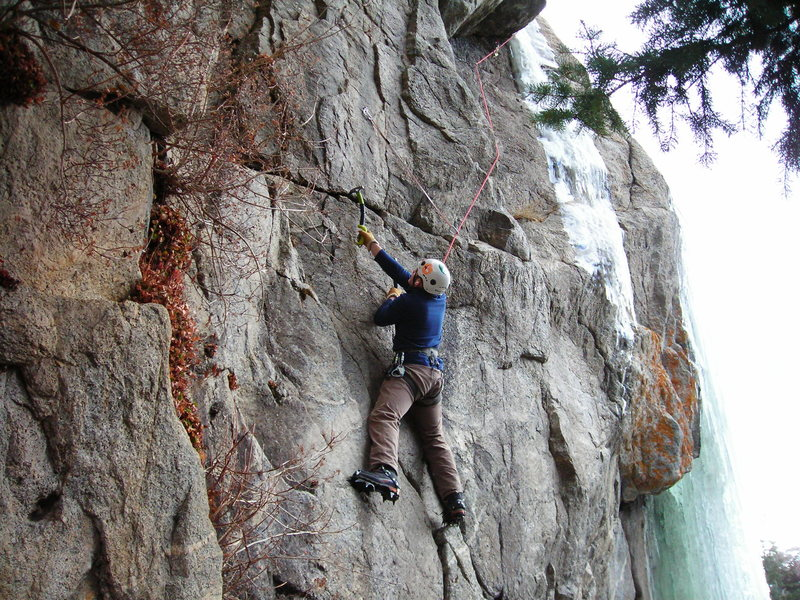 Mike C. seconding, good climbing Mike!