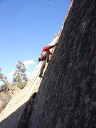 Rock Climbing Photo: Bob S starting up Velcro.