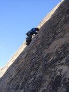 Rock Climbing Photo: Winnie working her way up, sans rurps.