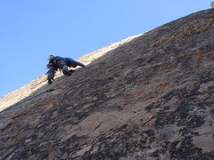 Rock Climbing Photo: Slabbin' it on Rurp Rip-off.