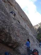 Rock Climbing Photo: Bob S on the lower slab of Follower's Folly.