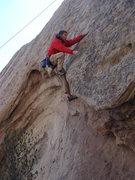Rock Climbing Photo: Bob S finishing the crux.