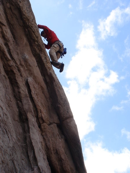 Rock Climbing Photo: Bob on the headwall of Spike the Punch.