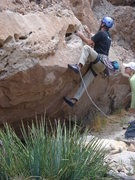 Rock Climbing Photo: Jerry Miller on the start.