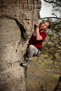 Rock Climbing Photo: Ryan Cantor on an unknown arete route (fairly new?...