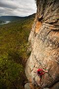 Rock Climbing Photo: Luke at T-Wall
