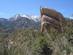 Rock Climbing Photo: The Corral and the San Gabriel Mountains.