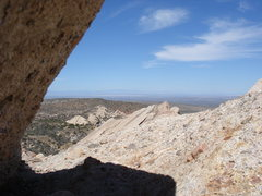 Rock Climbing Photo: Looking north from the top of the Corral.