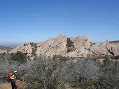 Rock Climbing Photo: Heading toward the slabs of the North area.