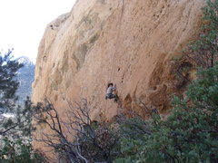 Rock Climbing Photo: The right and central portions of Attitude wall.  ...