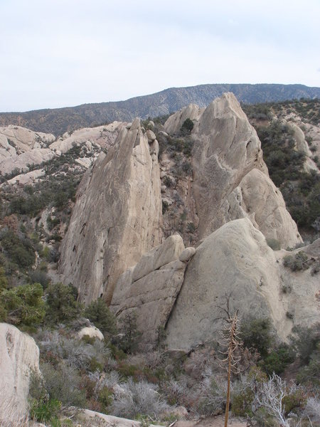 The climbing slabs of the South area.