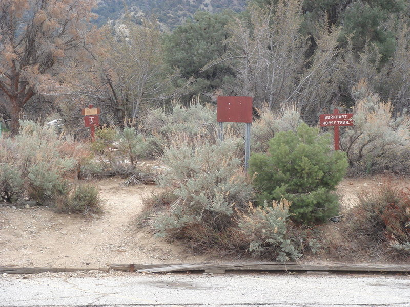 This is the trailhead for the South area.