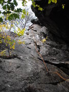 "Rock Climbing Photo: this is the ""left route"". If it rained r..."