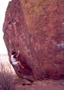 Rock Climbing Photo: Purity Control, V10.