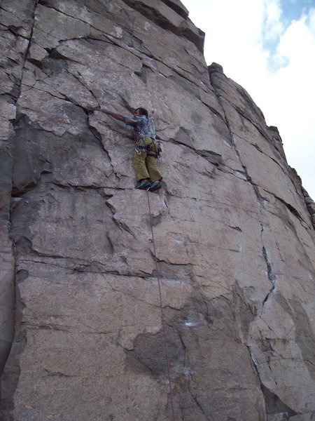 Rock Climbing Photo: BH on FA of Star Shine, Sunrise Wall, Sea Cliffs o...