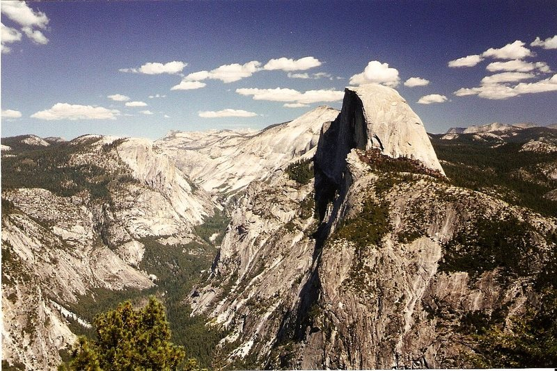 Rock Climbing Photo: Half Dome from Glacier Point.  ?Summer '97.