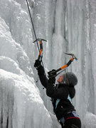 Rock Climbing Photo: my first time ice climbing  hwy 215 in NC near Bre...