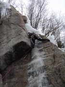 Rock Climbing Photo: Another angle of the ice at the top.