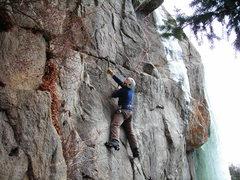 Rock Climbing Photo: Mike C. seconding, good climbing, Mike!!