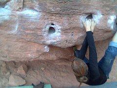 Rock Climbing Photo: Huecos traverse-big bend
