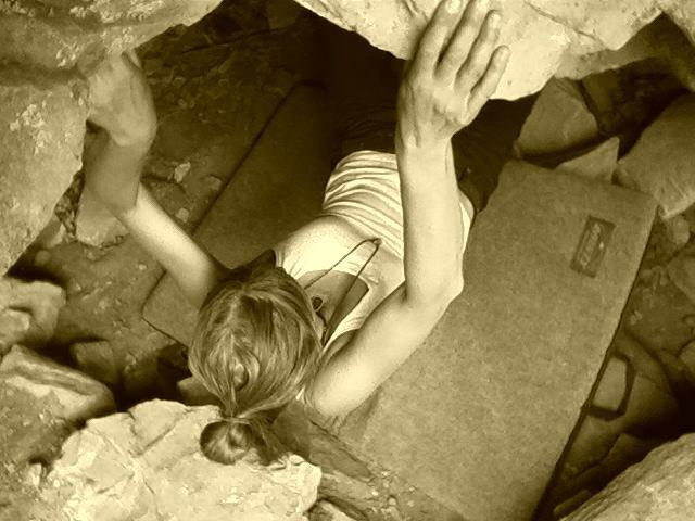 Rock Climbing Photo: me-Turtle Lake
