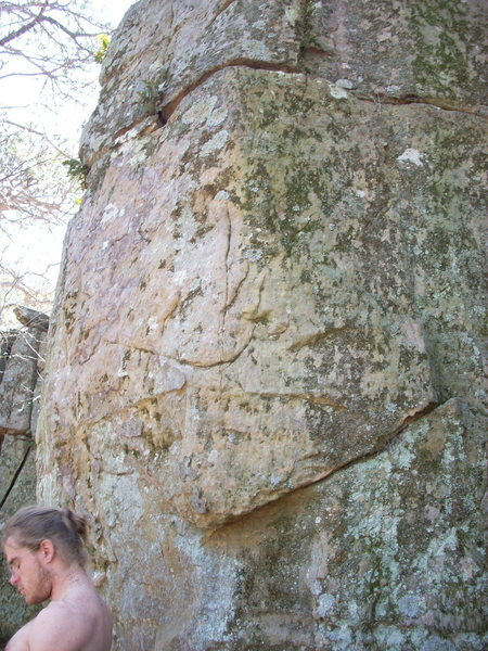Rock Climbing Photo: Route starts on underclings.
