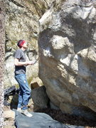 Rock Climbing Photo: Rhoads contemplating why the hell he can't do it!