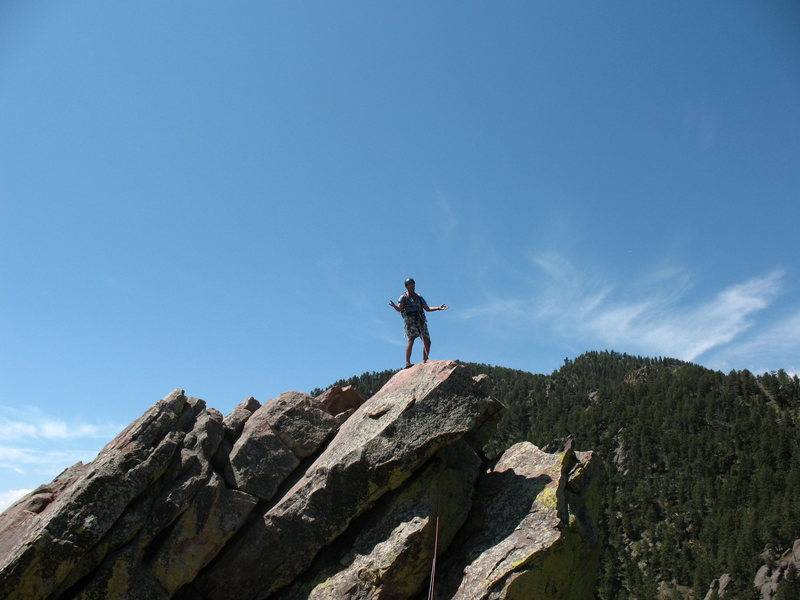 Rock Climbing Photo: My dad on the First Flatiron.