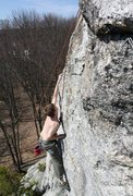 Rock Climbing Photo: Phil crimpin hard on the spice section after the f...