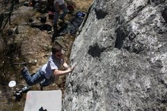 Rock Climbing Photo: haha Mike R lookin graceful after tryin to dyno th...