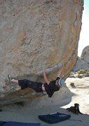 Rock Climbing Photo: Beorn watches as Warren rounds the bulge on 'Beeke...