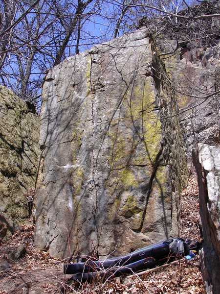 Rock Climbing Photo: Right side of boulder.