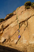 Rock Climbing Photo: The start of this route just got a couple of grade...