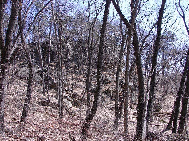 Rock Garden from the 401 boulder